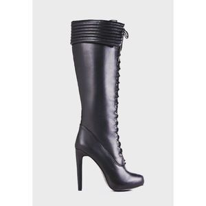 Adrietta Knee High Front Lace Boots